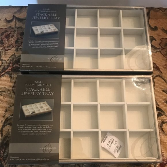 Brand New Small Stackable Jewelry Trays